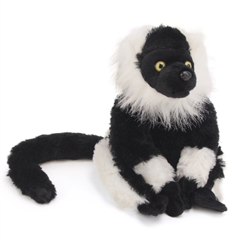 Stuffed Black and White Ruffed Lemur Mini Cuddlekin by Wild Republic