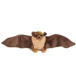 Stuffed Brown Bat Mini Cuddlekin by Wild Republic