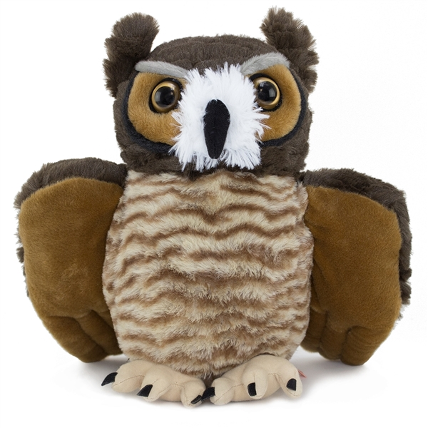 Stuffed Great Horned Owl 12 Inch Cuddlekin By Wild