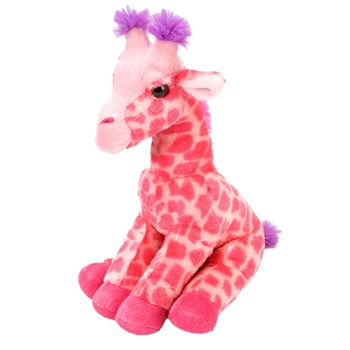 Stuffed Pink Giraffe 12 Inch Cuddlekin by Wild Republic