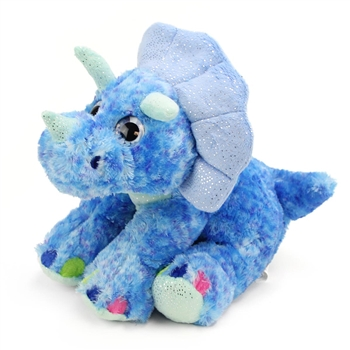 Blue Stuffed Triceratops Sweet and Sassy Plush Animal by Wild Republic