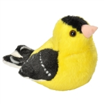 Plush American Goldfinch Audubon Bird with Sound by Wild Republic