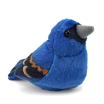 Plush Blue Grosbeak Audubon Bird with Sound by Wild Republic