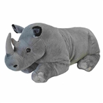 Cuddlekins Jumbo Rhino Stuffed Animal by Wild Republic