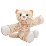 Huggers Orange Cat Stuffed Animal Slap Bracelet by Wild Republic