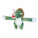 Huggers Triceratops Stuffed Animal Slap Bracelet by Wild Republic