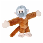 Huggers Squirrel Monkey Stuffed Animal Slap Bracelet by Wild Republic