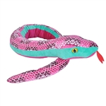 Honeycomb Print 54 Inch Plush Pink Snake by Wild Republic