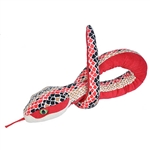 Brown Scale Print 54 Inch Plush Red Snake by Wild Republic