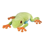 Jumbo Plush Red-eyed Tree Frog 30 Inch Cuddlekin by Wild Republic