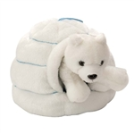 Plush Polar Bear And Igloo 4 Inch Polar Animal By Wild Republic