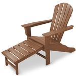 Polywood Palm Coast Ultimate Adirondack with Hideaway Ottoman