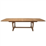 "Royal Teak  84/102/118"" Rectangle Extension Table"
