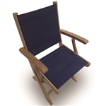 Royal Teak Sailmate Sling Folding Arm Chair