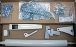 Replacement AJ Storm Door Hardware Kit - White. Works for all AJ Manufacturing Storm Doors including AJ Stormdoors purchased at Menards.