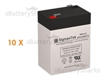 Set of 10 - 6V 4.5Ah SLA Batteries + Shipping Included