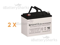 Set of 2 - 12V 35Ah Batteries + Shipping Included