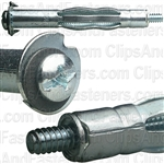 3/16 Hollow Wall Anchors Wall or Surface Thickness 5/8 - 1-1/4