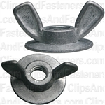 "Washer Base Wing Nut 1/4""-20 Zinc Alloy"