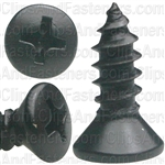 "8 X 1/2"" Phillips Oval Head Tapping Screws Black Oxide"