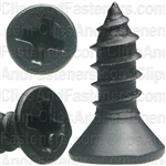 "#8 X 1/2"" Phillips Flat Head Tapping Screw Black Oxide"