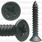 "#8 X 1"" Phillips Flat Head Tapping Screw Black Oxide"