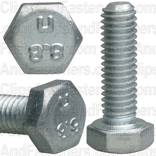 6-1.0 X 20mm Din 933 Cap Screwcl8.8 - Zinc