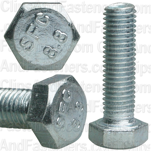7-1.0 X 25mm Din 933 Cap Screwcl8.8 - Zinc