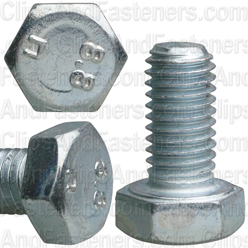 8-1.25 X 16mm Din 933 Cap Screwcl8.8 - Zinc