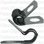 Closed Clamp 5/16 - Galvanized Vinyl Coated