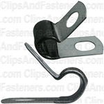 Closed Clamp 3/8 - Galvanized Vinyl Coated