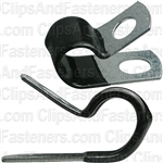 Closed Clamp 1/2 - Galvanized Vinyl Coated
