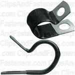 Closed Clamp 3/4 - Galvanized Vinyl Coated