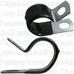 Closed Clamp 7/8 - Galvanized Vinyl Coated