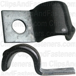 Half Clamp 7/16 - Galvanized Vinyl Coated