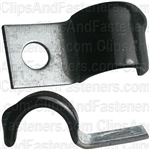 Half Clamp 1/2 - Galvanized Vinyl Coated