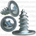 "#8 X 3/8"" Phillips Oval Washer Head - Zinc"