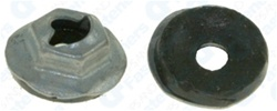 Thread Cutting Nut W/Sealer 1/4 Stud Size