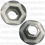 Thread Cutting Nut 5/16 Stud Size - Zinc