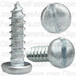 "#8 X 5/8"" Zinc Slotted Pan Head Tapping Screws"