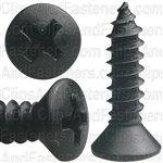 #10 X 3/4 Phil Oval Hd T.S.- Black Oxide
