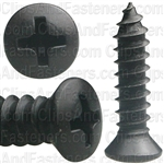 #10 X 3/4 W/ #8Hd Phil Oval Hd T.S. - Black Oxide