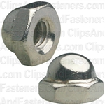 "#8-32 X 5/16"" Steel Acorn Cap Nut - Nickel Plated"