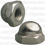 "#10-32 X 3/8"" Steel Acorn Cap Nut - Nickel Plated"