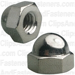 "1/4""-20 X 7/16"" Steel Acorn Cap Nut - Nickel Plated"
