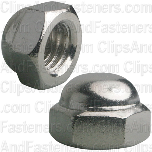 "1/2""-13 X 3/4"" Steel Acorn Cap Nut - Nickel Plated"