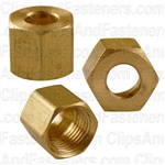 Brass Fitting Compression Nut 1/4