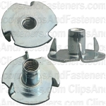 #6-32 X 15/64 Teenut 3 Straight Prongs Round Base