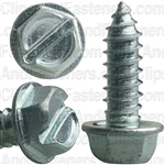 #14 X 3/4 Sloted Hex Washer Head License Plate Screw