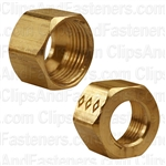 Brass Fitting Compression Nut 3/8